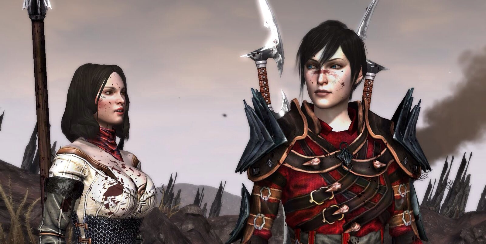 Hawke (right) - the main protagonist in the story who hates being the mary sue as much as you do.